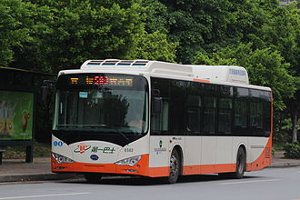 BYD K9 - BYD K9A Bus is running Guangzhou Trolley Bus Line 583