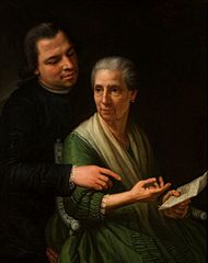 Portrait of mother and brother.