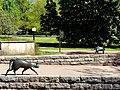 Bad Sassendorf – Bronze-Skulpturen – Katzen auf der Salinenmauer - panoramio.jpg