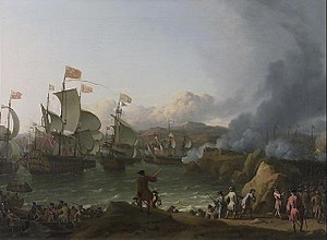1702 in France - The Battle of Vigo Bay, painted by Ludolf Backhuysen