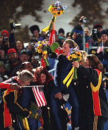 Bakken Flowers 2002 Winter Olympics win.jpg