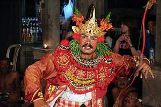 Bindi (decoration) - A Balinese dancer with a white Bindi