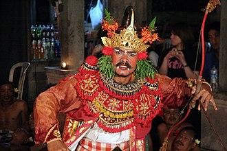 Bindi (decoration) - A Balinese dancer with a white Bindi