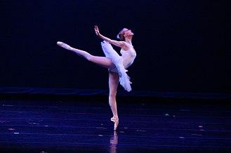 Classical ballet - Ballerina dancing en pointe
