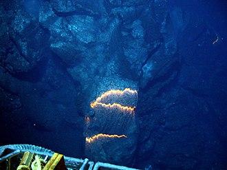 Submarine volcano - Deepest ever filmed submarine volcano, West Mata, May 2009.