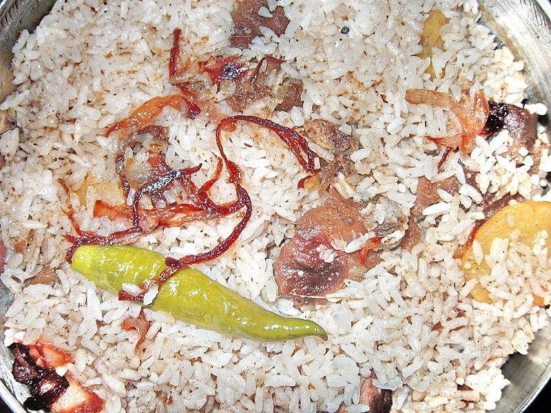 ملف:Bangladeshi Home-made Beef Biryani.jpg