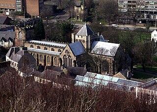 Bangor Cathedral Church in Gwynedd, Wales