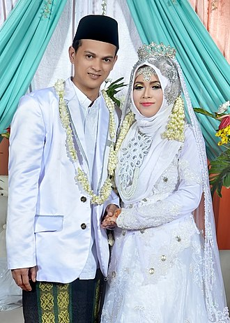 Bantenese people - Bantenese couple at a wedding