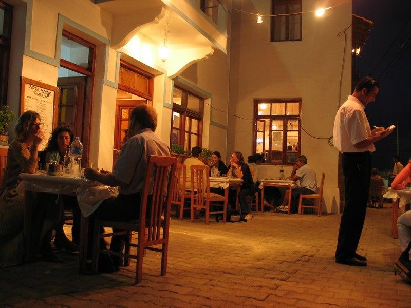 Barba Yorgo tavern, Tepek%C3%B6y village, G%C3%B6k%C3%A7eada, Turkey - 20050713