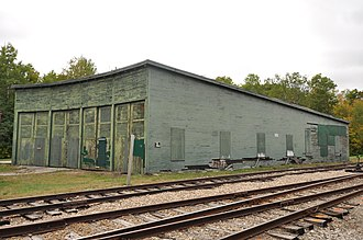 National Register of Historic Places listings in Carroll County, New Hampshire - Image: Bartlett NH Roundhouse