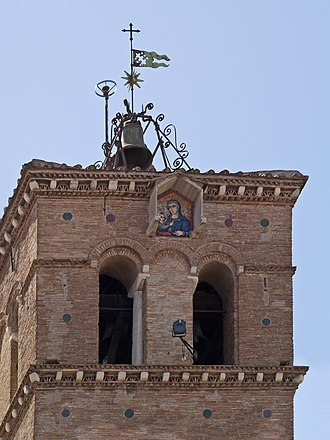Santa Maria in Trastevere - Madonna and Child at the top of the campanile