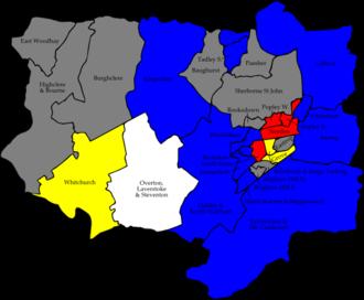 Basingstoke and Deane Borough Council elections - Image: Basingstoke and Deane 2007 election map