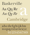 Baskerville font sample.png