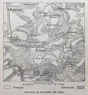 Battle of Beaumont - Image: Bataille de Beaumont (1870)