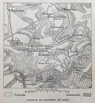 Battle of Beaumont - Image: Bataille de Beaumont (1870)