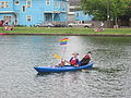 Bayou St John 4th of July Rainbow Patriot with Dog and Obama.JPG