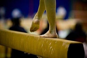 Glossary of gymnastics terms - The balance beam