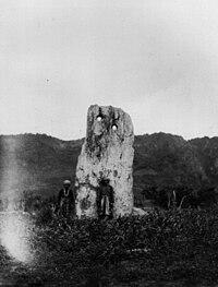 The Puyuma's moon-shaped monolith, ca. 1896