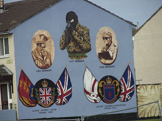 Ulster Defence Association - A UDA/UFF mural in Belfast