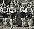 Belle Moore, Jennie Fletcher, Annie Speirs, Irene Steer 1912.jpg