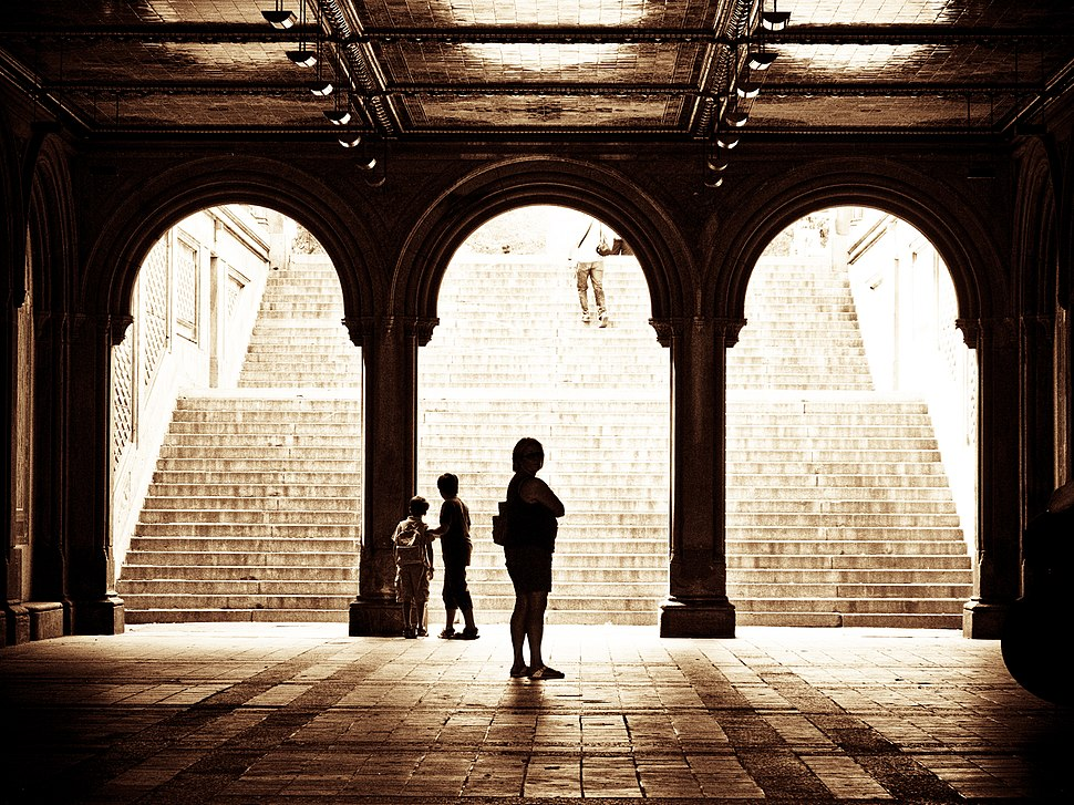 Below Bethesda Terrace in the Central Park