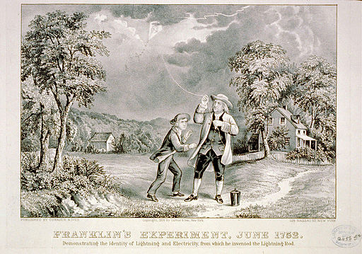 Benjamin Franklin Lightning Experiment 1752