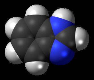 Benzimidazole - Image: Benzimidazole 3D spacefill