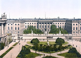 Humboldt University of Berlin - Friedrich Wilhelm University became an emulated model of a modern university in the 19th century (photochrom from 1900).