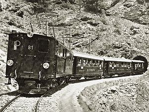 Mitropa - Bernina Express with Mitropa dining cars, 1928