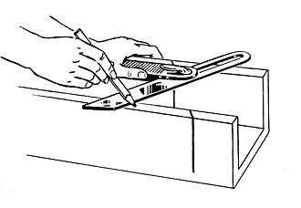 Sliding T bevel - In use