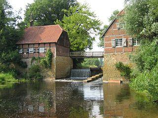 Bever (Ems) River in Germany