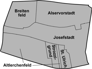 Josefstadt - District sections of Josefstadt.