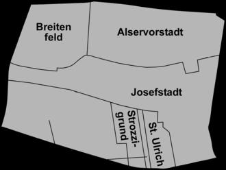 Josefstadt - District sections of Josefstadt.