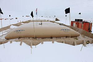 Fuel bladder - Fuel bladder at Byrd Field Camp in Antarctica