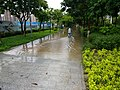 Biking through flash flood in Foshan.jpg