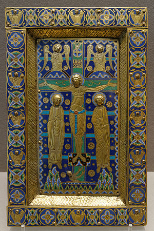 Treasure binding - Typical Limoges enamel cover, c. 1200