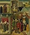 Binnenzijde van de rechtervleugel van een altaarstuk met de heilige Elisabeth die de zieken in Marburg verzorgt en de dood van de heilige Elisabeth Rijksmuseum SK-A-3146.jpeg