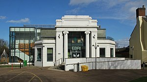 Pebble Mill Studios - The front of the former Delicia Cinema on Gosta Green. The BBC turned the cinema into television studios after the Second World War and used it until Pebble Mill opened in 1971.