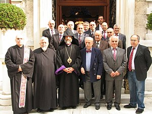 Sebouh Chouldjian - Image: Bishop Sebuh meeting with representatives of Armenian Community in Istanbul