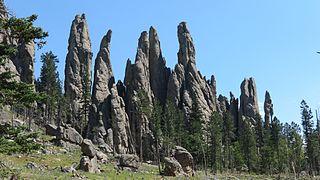 Needles (Black Hills) towers of eroded granite in the Black Hills of South Dakota, USA