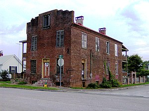 National Register of Historic Places listings in Loudon County, Tennessee - Image: Blair's ferry storehouse tn 1