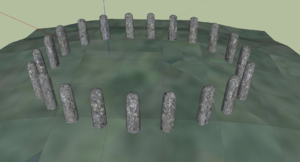 Bluestonehenge - Bluestonehenge digital reconstruction – oval configuration