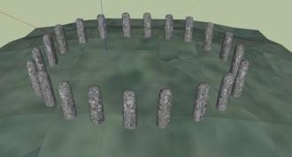 Bluestonehenge - Bluestonehenge digital reconstruction – oval configuration