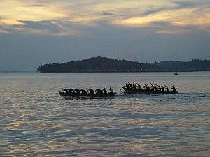 Boat race in Tanjung Pinang