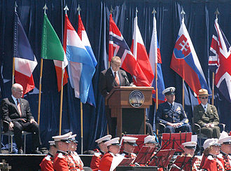 Bob Dole - 2005, Dole speaking at the 60th Anniversary of VE Day