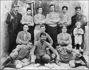 History of Boca Juniors - The first recorded photo of Boca Juniors taken in 1906, after winning the Copa Reformista.