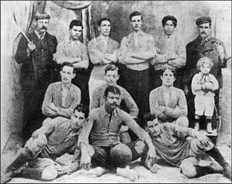 Boca Juniors - The first recorded photo of Boca Juniors taken in 1906, after winning the Copa Reformista.