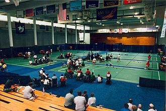 Boccia at the 1996 Summer Paralympics - Boccia view of venue at the 1996 Paralympic Games