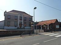 Bonningues-lès-Ardres (Pas-de-Calais) mairie.JPG