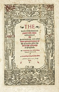 <i>Book of Common Prayer</i> (1549) English Anglican prayer book of 1549